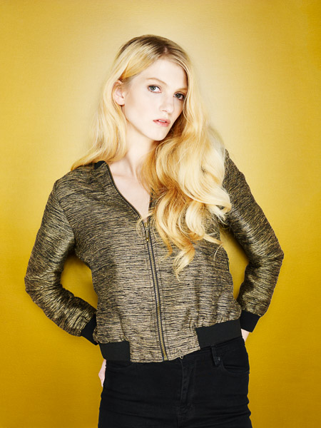 7x7 Magazine - Gold Bomber Jacket